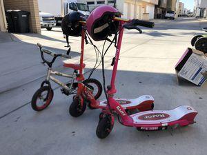 2 electric razors and a small bike for Sale in Laguna Beach, CA