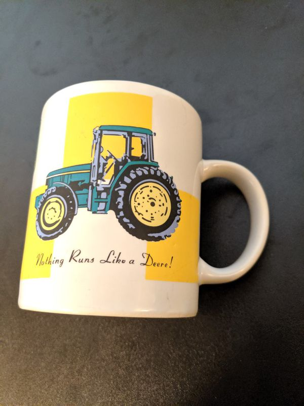 John Deere Coffee Mug Tractor Farmer