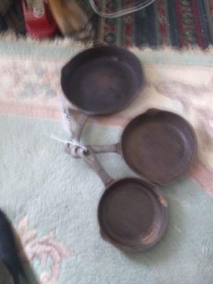 Cast iron frying Pans 3 ea for Sale in Virginia Beach, VA