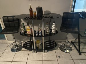 Bar with stools for Sale in Lakeland, FL
