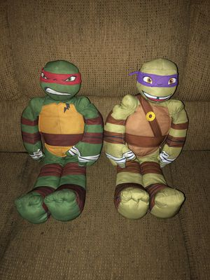 25-Inch Nickelodeon TMNT Donatello & Raphael Character Plush Figures for Sale in Fresno, CA