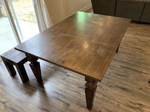Kitchen table and bench for Sale in Hillsborough, NC