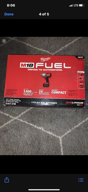 New Milwaukee 1/2 inch high torque impact wrench kit $290 for Sale in Boston, MA