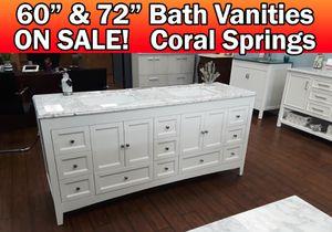 """72"""" bathroom vanity countertop INCLUDED for Sale in Coral Springs, FL"""