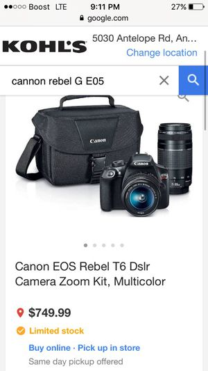 Cannnon professional camera for Sale in Roseville, CA