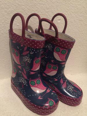 5c Owl rain boots for Sale in Tacoma, WA