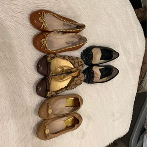 4 for 35 michael kors and coach flats for Sale in Fontana, CA