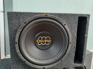 12in subwoofer speaker in box for Sale in Wood Village, OR
