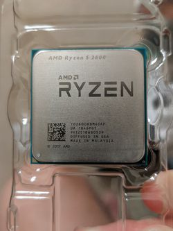 AMD Ryzen 5 2600 + Stock Cooler (Wraith Prism+$20) for Sale in Alhambra,  CA