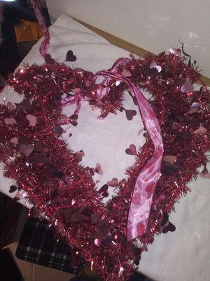 Heart valentines home decor wall door hanger for Sale in Southfield, MI