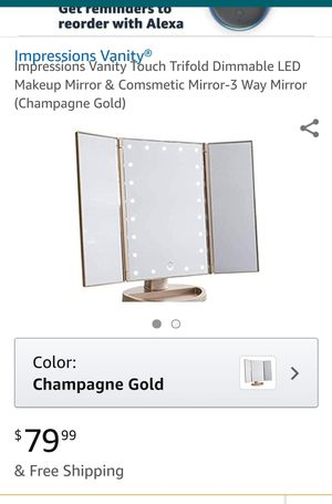 Impressions Vanity Trifold Touch Makeup Mirror for Sale in Atlanta, GA