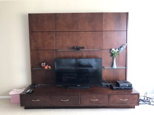 Coaster media entertainment tv stand with Glass shelves Contemporary Cappucino for Sale in Chicago, IL