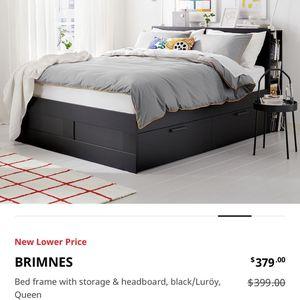 Storage Platform Queen Bed & headboard for Sale in North Las Vegas, NV