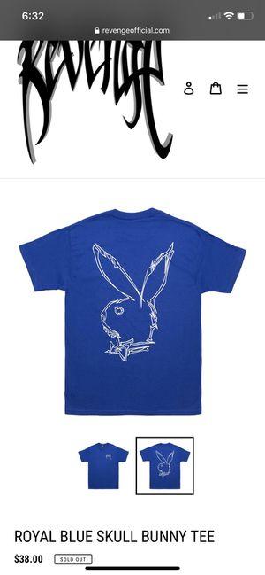 Revenge x playboy royal blue skull bunnie tee for Sale in Jackson Township, NJ