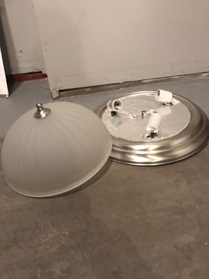 2 decor ceiling lights WITH bulbs for Sale in Denver, CO