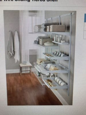 1 case of four individually boxed shelves. Used for organizing shoes, pantry and closet for Sale in Hollywood, FL