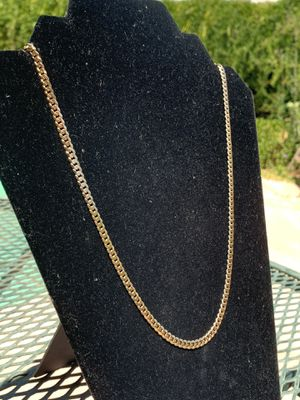 Solid 22.5in Genuine 14k Yellow Gold Curb Chain 4.5mm for Sale in Chandler, AZ