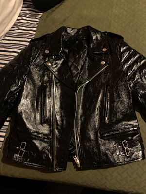 Helmut Lang Womens patent leather motorcycle jacket brand new for Sale in Long Beach, CA
