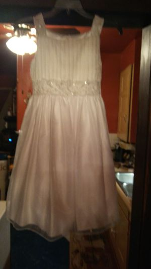 In new condition.girls white formal dress size 12 for Sale in Columbus, OH