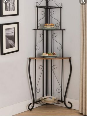 Black Corner three tier plant stand or storage shelf for Sale in Wexford, PA