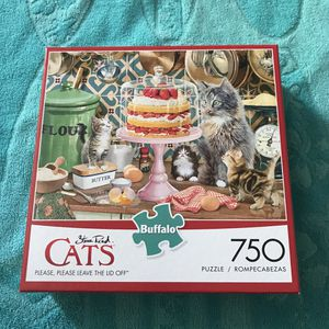 NEW!!! 750 Piece Puzzle CATS/CAKE for Sale in Torrance, CA