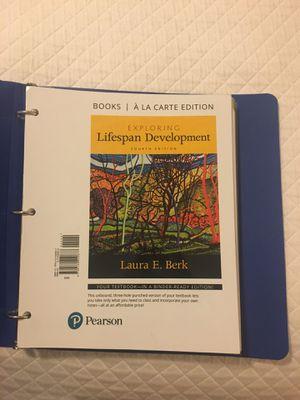 Exploring Lifespan Development textbook 9780134420677 4th edition Berk for Sale in Boynton Beach, FL