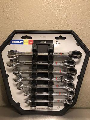 Kobalt 7 pc ratcheting combination wrench set for Sale in San Bernardino, CA