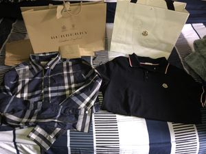 Burberry shirt / Moncler shirt / Polo pjs for Sale in Seattle, WA