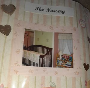 Cherry wood baby crib excellent condition all pieces Western branch for Sale in Chesapeake, VA