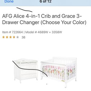 Baby crib $ dresser changing table for Sale in Cleveland, OH