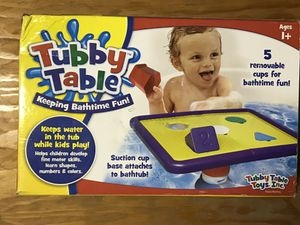 Tubby table - bath time fun for Sale in San Diego, CA