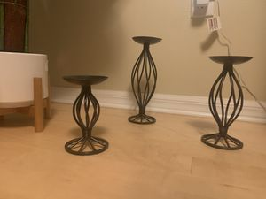 Candle Holders - Rustic farmhouse chic for Sale in Tampa, FL
