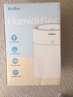 Brand new Waitor Humidifiers Top Fill Ultrasonic for bedroom Baby Room 3L Quiet Essential Oil Humidifier with Adjustable Mist Output Auto Shut Off for Sale in McLean,  VA