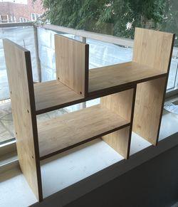 Bamboo adjustable desk organizer for Sale in Seattle,  WA