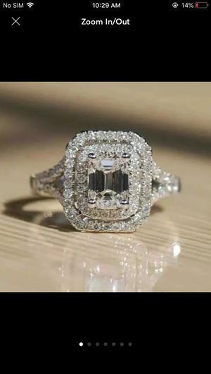 10k gold filled 2.68ct lab created diamond wedding engagement ring casual love proposal anniversary ring for Sale in Silver Spring, MD