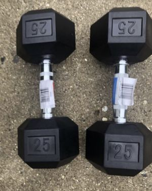 Brand New 25 lb dumbbells for Sale in West Chicago, IL
