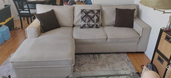 Chaise Sofa Bed Set with Storage