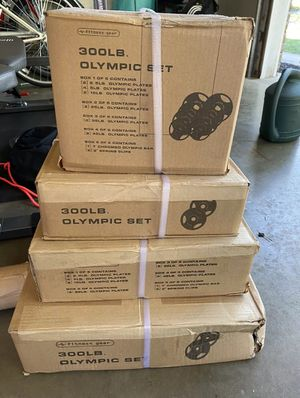 Olympic weight set for Sale in Dale City, VA