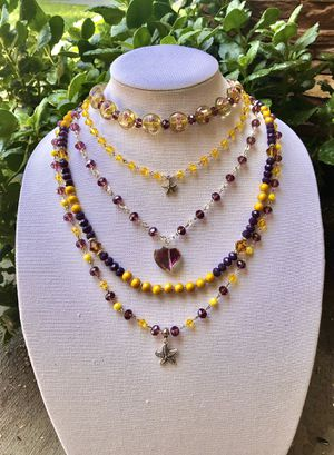 Multi layer statement necklace with sea star charms for Sale in San Bernardino, CA