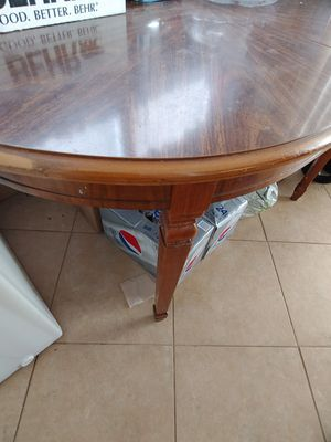 Antique Oval Dining Room solid wood table with extenders for Sale in Anaheim, CA