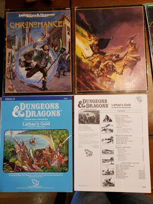 Vintage Dungeon and Dragons Modules for Sale in Cottage Grove, MN