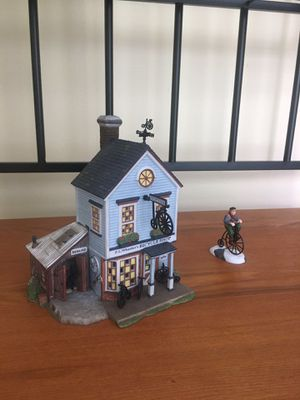 Dept 56 New England Village: PJ Wheelers Bicycle Shop for Sale in Oakton, VA