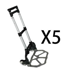 5pcs Foldable Aluminium Folding Luggage Cart And Hand Truck Trolley Wheel 176lbs for Sale in Wildomar, CA