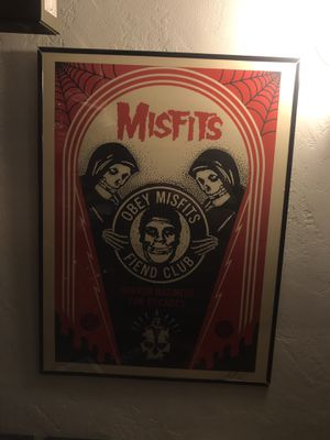 Signed Obey Giant x Misfits Art Piece for Sale in San Gabriel, CA