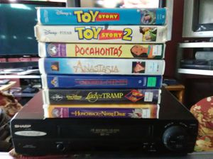 VCR with 7 great Disney movies for Sale in Washington, DC
