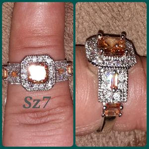 Sterling silver, white & champagne cz diamonds for Sale in Glen Burnie, MD