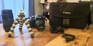 Canon EOS Rebel T5, black camera with extra lense for Sale in Louisville, KY