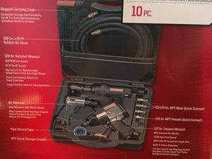 Craftsman 10 Piece Mechanics Air Tool Kit for Sale in Houston, TX