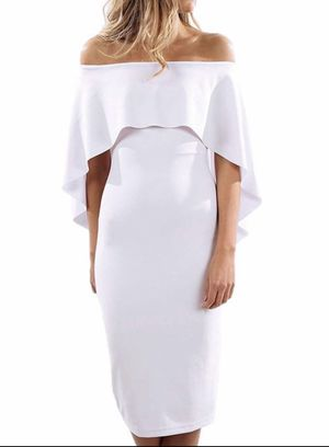 White Midi Cocktail Dress (Size M or 6-8) for Sale in Germantown, MD