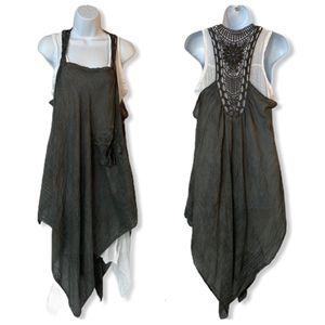 Made In Italy Dress Lagenlook Boho Small S Gray for Sale in Princeton, NJ